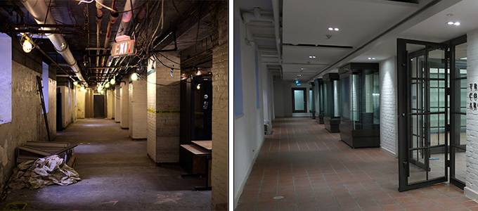 Archives Hallway Before and After Renovations