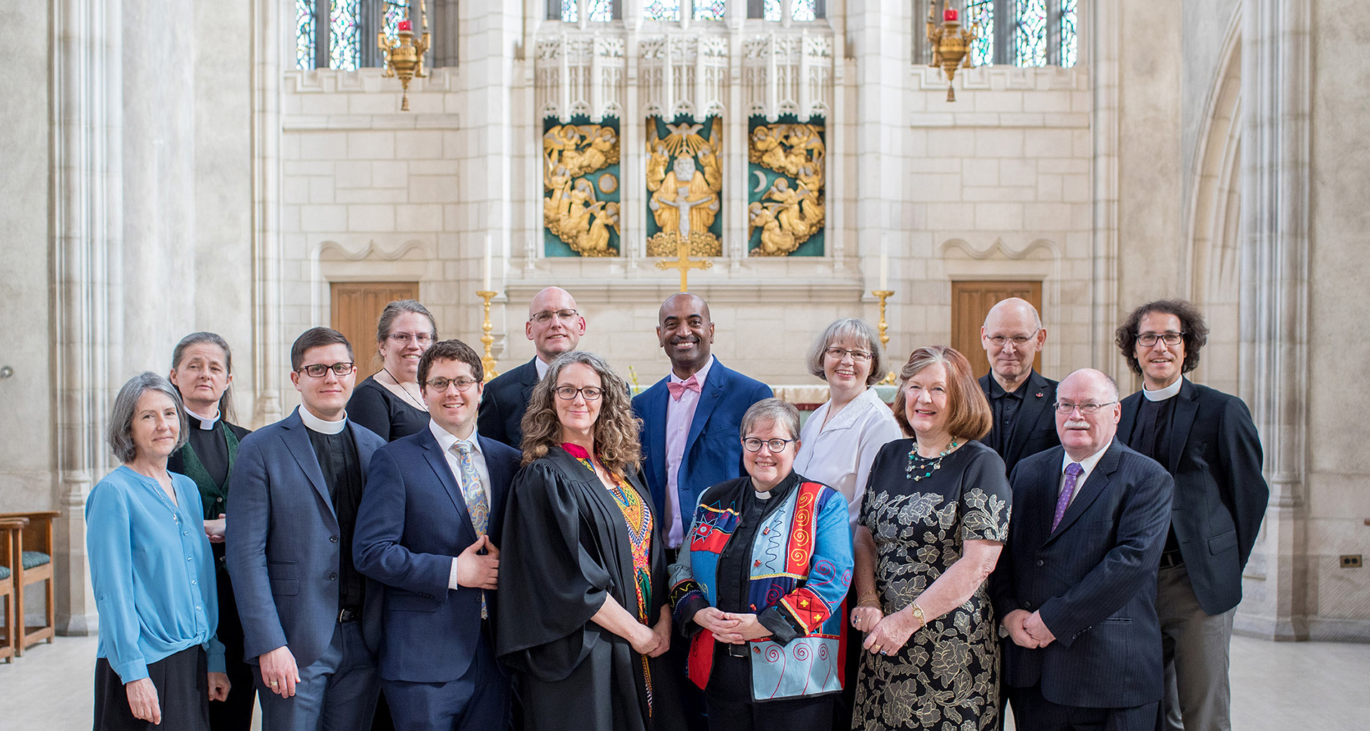 Divinity Convocation 2019 Grads and Faculty in the Trinity Chapel