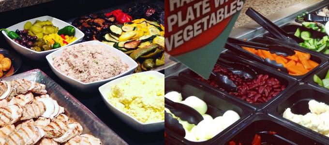 New Salad Bar food items in Strachan Hall
