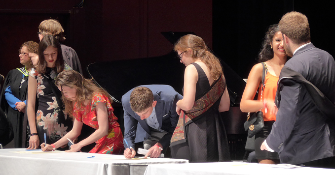 Student sign the register at Matriculation Convocation 2015