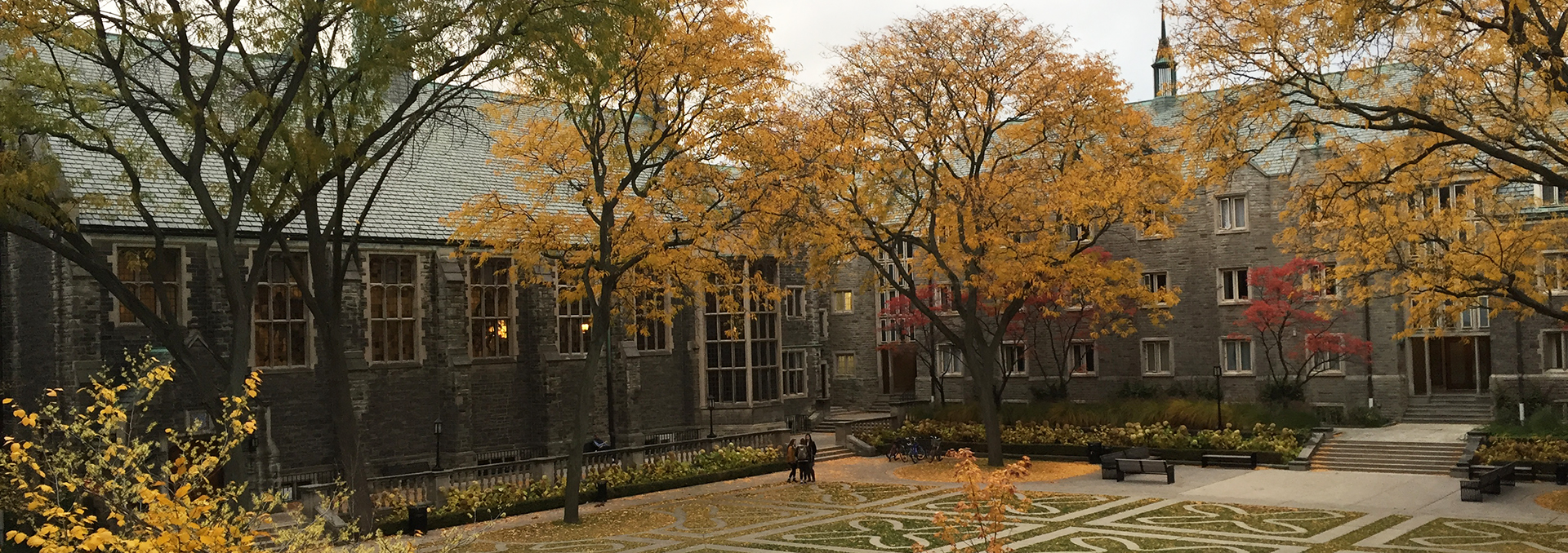 Trinity College Quad in the Fall