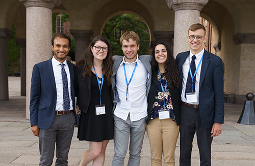 Trinity's Nathan Postma, Emily Shaw and Danielle Pal are part of the 2018 ESE Research Team
