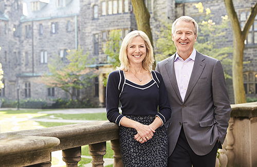 Brian and Joannah Lawson in the Quad news
