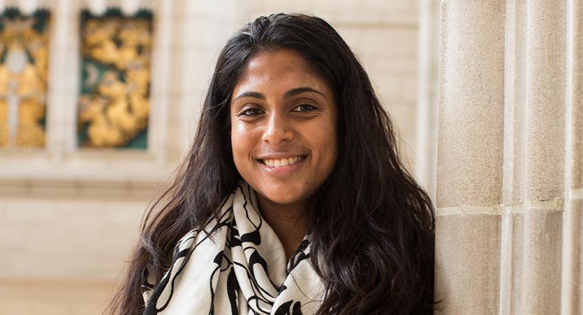 Roshni Jayawardena in the Trinity College Chapel