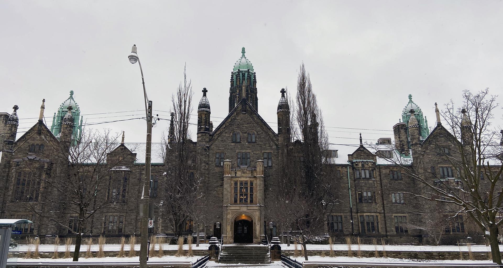 Trinity College along Hoskin Avenue in Winter