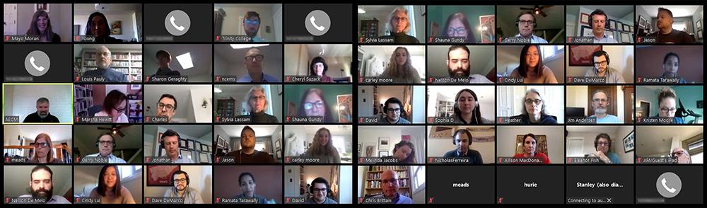 Zoom Board of Trustees Meeting, April 8, 2020