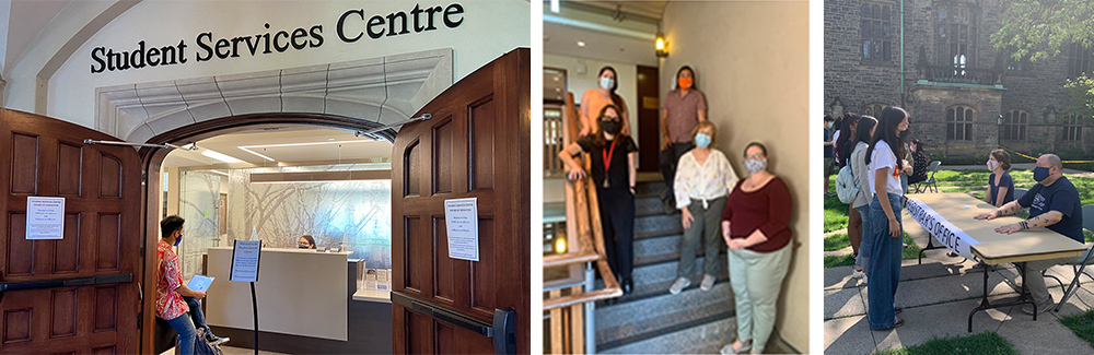 Compiled image of the Student Services Centre, Graham Library Staff and Resource Fair