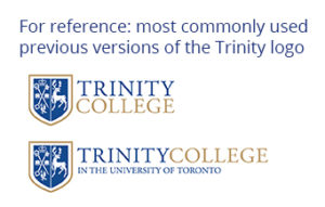 Previous versions of the Trinity College logo