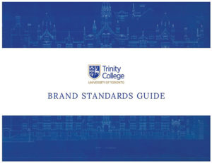 Cover of new Trinity College Brand Standards Guide