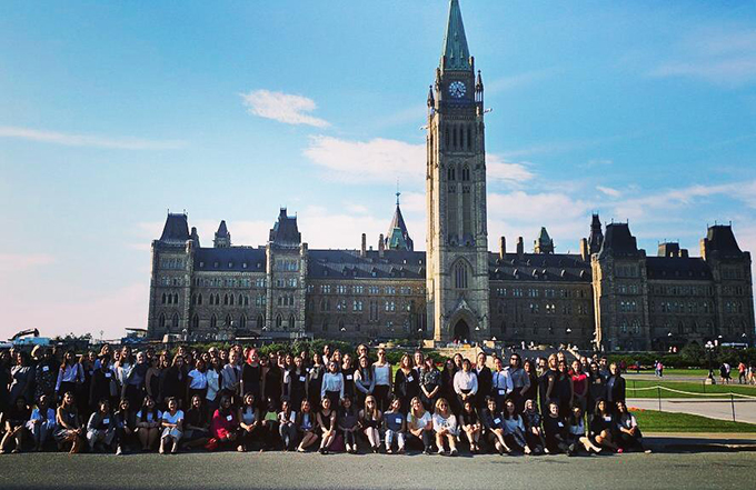 Women In House 2017 Students on Parliament Hill