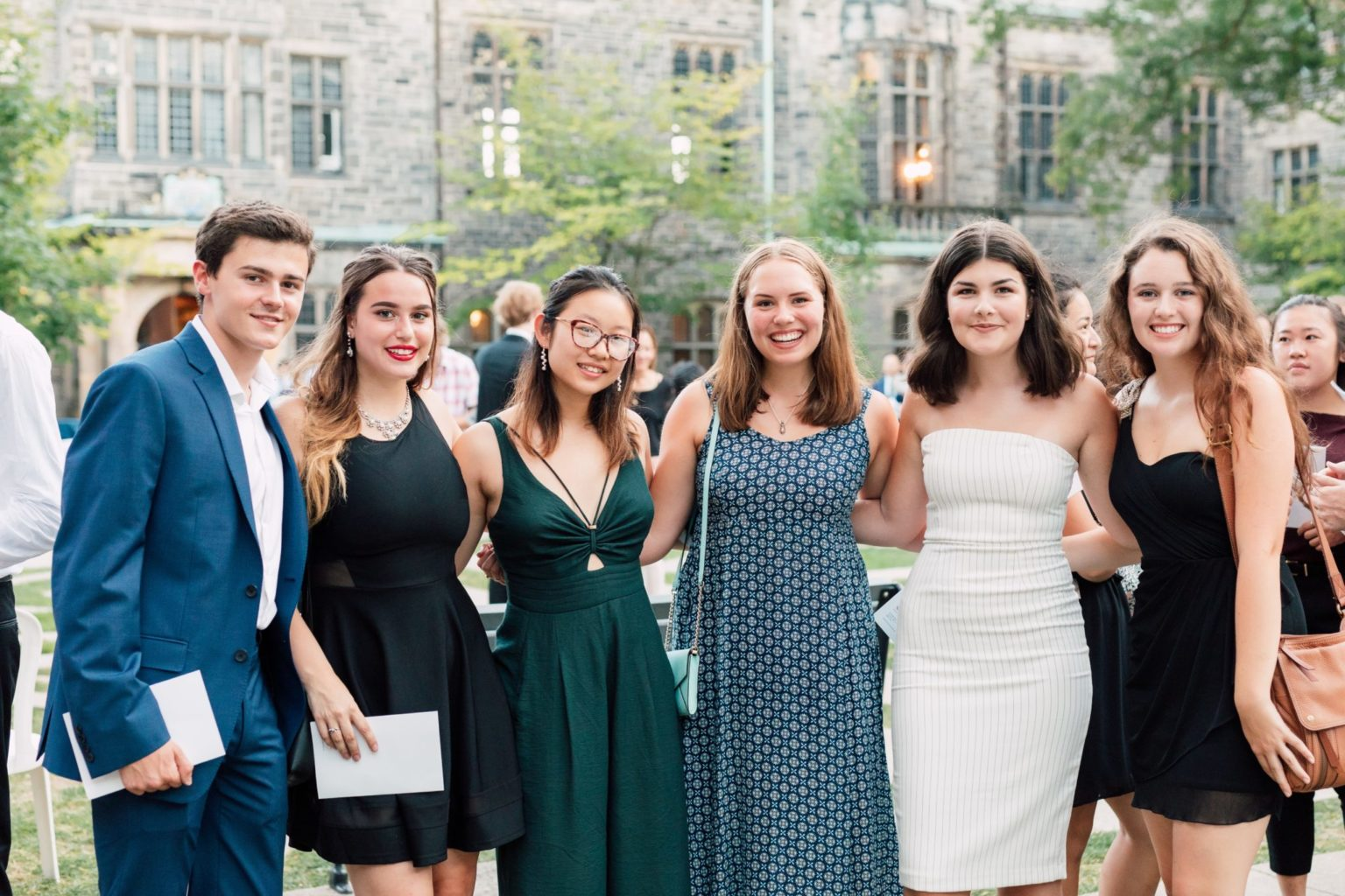 Trinity College Students from the Class of 2022 in the Quad Prior to Matriculation