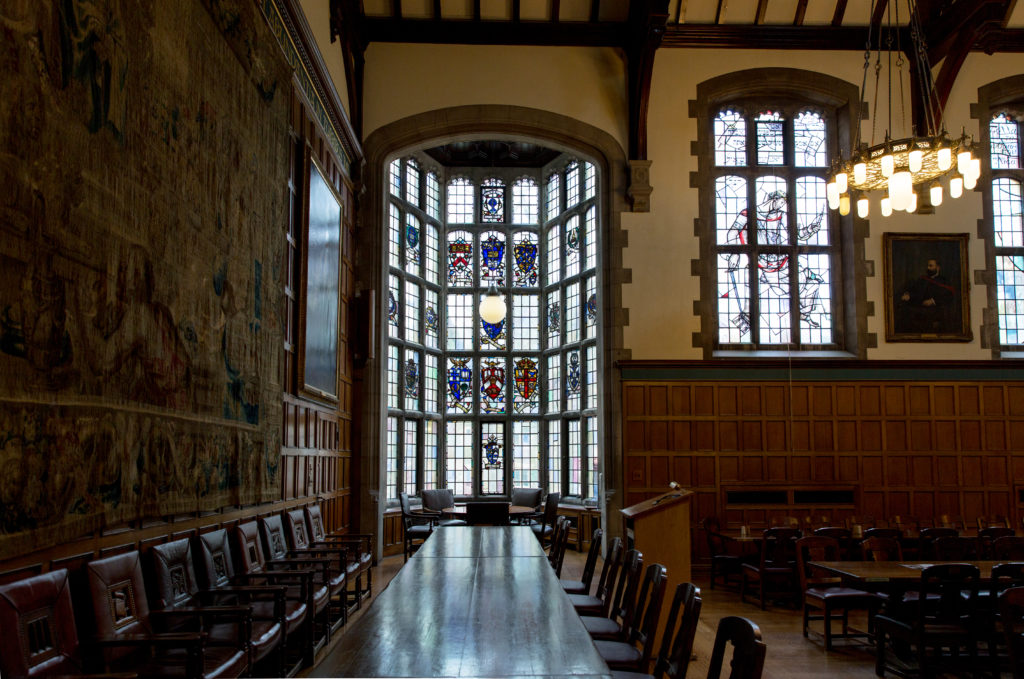 High Table and Oriel Window in Strachan Hall